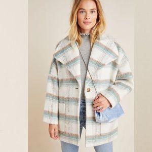 ANTHROPOLOGIE Elsa Plaid Coat in Sz Med Petite